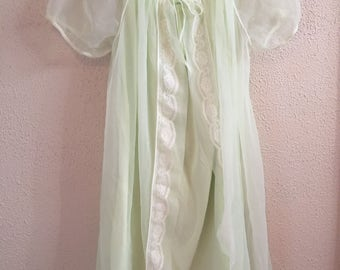 Vintage 1950's Berkliff nightgown and robe set