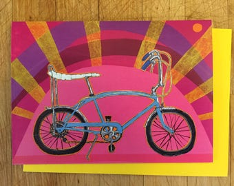 Banana Bike Card