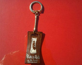 Vintage Bali Hai restaurant Key Chain Bali Ha'i in New Orleans at Pontchartrain Beach