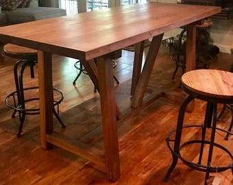 bar height table trestle dining table counter height table. Interior Design Ideas. Home Design Ideas