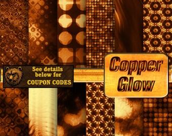 Copper digital paper, fire, digital paper, digital download, scrapbook, background, paper