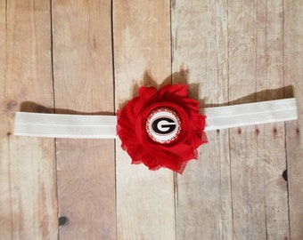 university of Georgia bulldogs headband-georgia headband-Georgia bulldogs baby girl gift-Georgia bulldogs for girl-georgia for baby