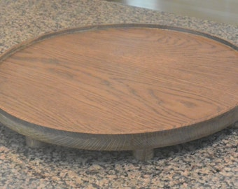Hand made solid oak candle stand specifically designed for our 18 inch round candle