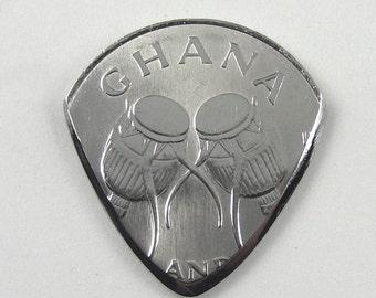 Coin Guitar Pick - Ghana 50 Cedis