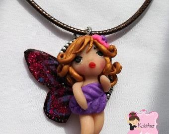 50% discount, discount, fairy, kawaii chibi ooak doll, jewelry, charm necklace, kawaii fairy doll, necklace, necklace, pendant, fairy chibi