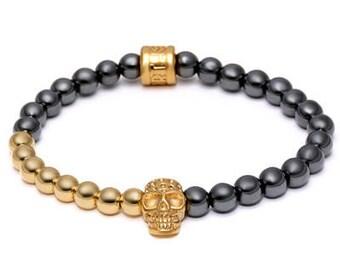 Gold plated Skull Luxury Bracelet for Men | BraceletsDR