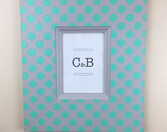 Handmade painted picture frame 5x7