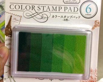 6 Color oil Ink pad - Gradient color green