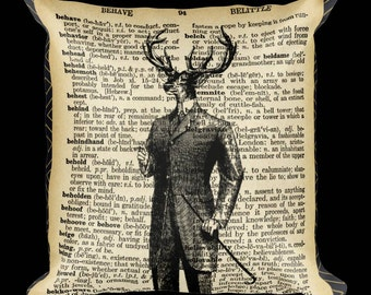 Vintage Dictionary Winston Pillow