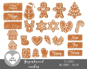 COD09-50% OFF SALE christmas cookies-christmas clipart-Commercial use-kawaii cliparts-gingerbread clipart-christmas cookies clipart-Cute