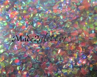 Iridescent Fish Scales nail art glitter