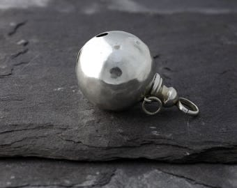 Large Vintage 1923 Sterling Silver Bell from a Rattle or Teething Ring