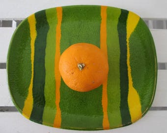 spring plate, decorative ceramic plate, colorful tray, ceramic platter appetizer, pottery handmade, decorative tray, serving plate
