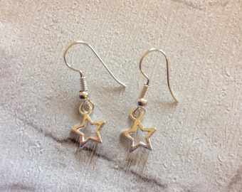 Silver Star Earrings, Little Star Earrings, Star Jewellery, Kids Earrings, Party Favors,  Stars, Festive earrings, Party Earrings.