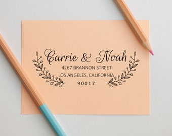 Personalized Stamp, Custom Stamp, Wedding Address Stamp, Self Inking Address Stamp, Self Inking Return Address Stamp, Wedding Gifts