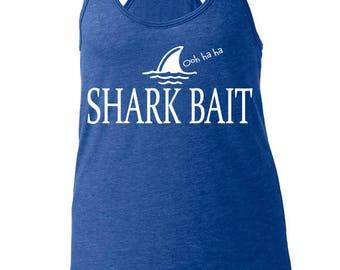 DIsney's Finding Nemo Inspired Shark Bait Ohh Ha Ha Women's Racerback Tanktop