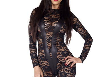 Role Play Lace Catsuit