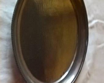 Pewter Oval Platter Vintage