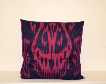 Colourful Ikat pillow cover