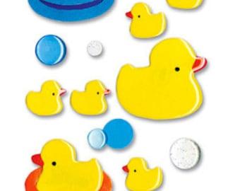 Epoxy Rubber Ducky Stickers