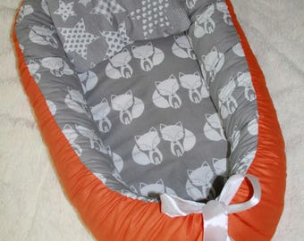 baby nest + pillow, babynest, baby cocoon, sleep nest, newborn baby nest, cosleeper