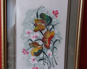 Brogat painting on silk, French