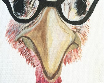 Turkey with Glasses Card