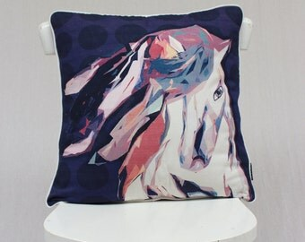 Sale - Brumby wild Horse Cushion Cover or pillow cover 100% heavy Cotton 50cm by 50cm
