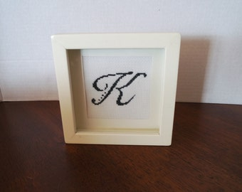Cross Stitch Inital 'K'