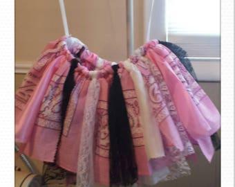 Country girl pink bandana skirt