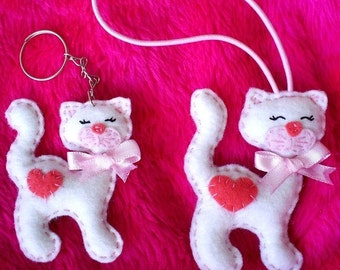 Needle felted Cat cub needle felted animal back to school valentines day gift for her christmas ornament birthday favor Gift Softie Party