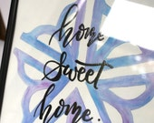 "Watercolor ""home sweet home"" - Rochester, NY - made to order, custom colors"