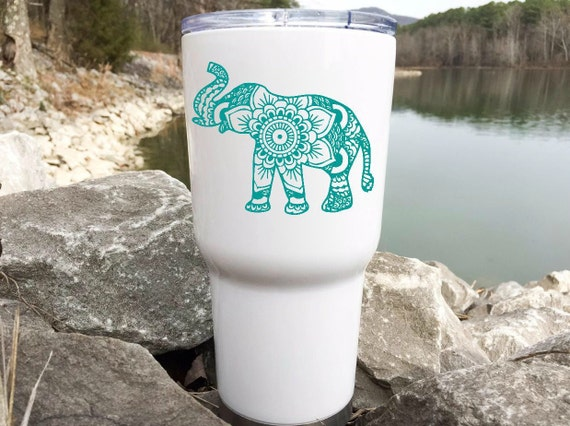 Tumbler Decal Elephant Decal For Yeti Elephant Decal