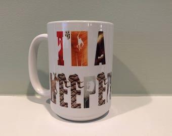 I'm a Keeper Animal Print Mug