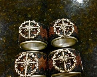 Leather Crafted Napkin Rings
