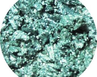Aquamarine Blue Foiled Vegan Eyeshadow Pigment Loose or Pressed - Bolt Lightning Strike Eyeshadow