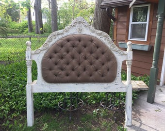 Custom Queen Tufted Bed Headboard