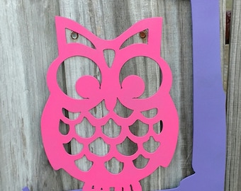 Personalized metal wall hanger