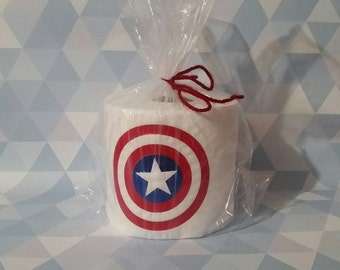 Superhero novelty gag gift toilet paper