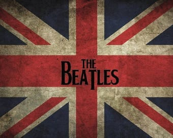 The Beatles Flag Poster | 18-Inches By 12-Inches | 100lb Gloss Paper |