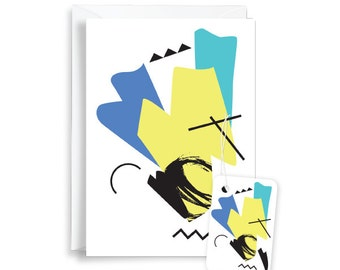Abstract 80s Greeting Card (Yellow)