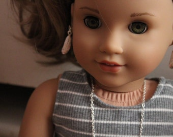 """Feather Earring Dangles For 18"""" Dolls"""