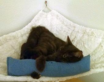 NEW - 15 in Heavy Denim Catnip Kicker Toy W/Catnip Pocket / Catnip Toy / Kitty Kicker