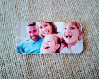 Upcycled wooden lightweight photo magnets