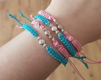 Candy braided stack bracelets