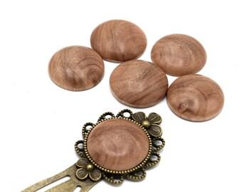 1 round cabochon eucalyptus wood handmade (handmade product) 20mm ref CB201603