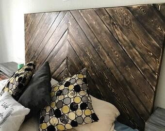 Rustic Headboard, King Size Headboard, Wood Headboard, Real Wood Headboard, Custom Wood Headboard