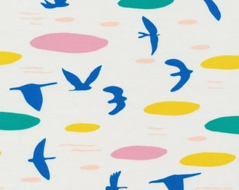 Up Above the Clouds So High - leah Duncan Cloud 9 Organic cotton fabric