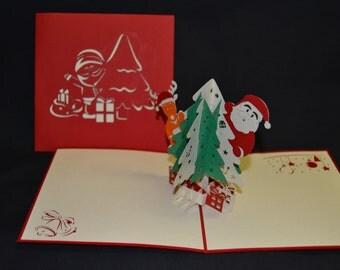 3-D Christmas Pop-Up Card
