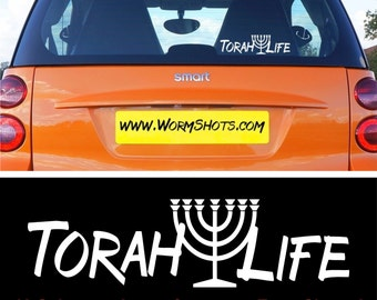 Torah Life with Menorah Car Sticker Decal – Hebrew Roots Messianic Yeshua The Way Christian - Catchy!